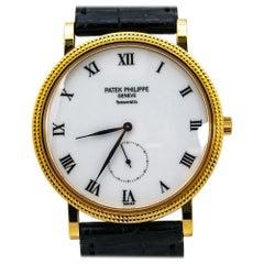Patek Philippe Classic Calatrava 3919J-001 18K Yellow Gold White Dial Box&P