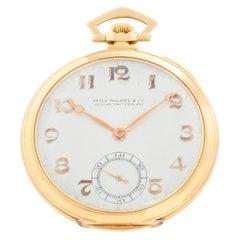 Patek Philippe & Co. 18 Karat Gold Art Deco Open Face Pocket Watch