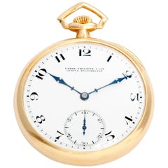 Patek Philippe & Co. 18 Karat Yellow Gold Open Face Pocket Watch
