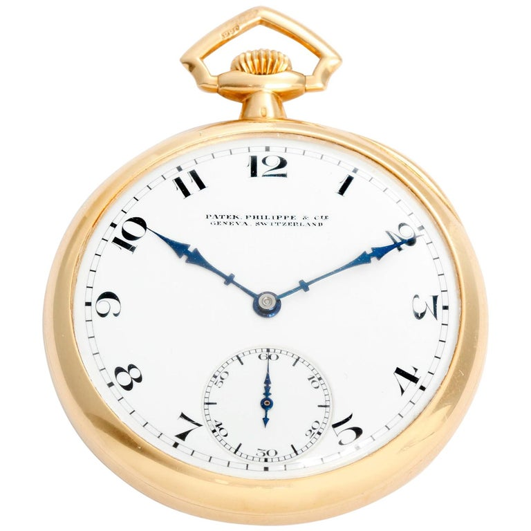 Patek Philippe & Co. 18 Karat Yellow Gold Open Face Pocket Watch