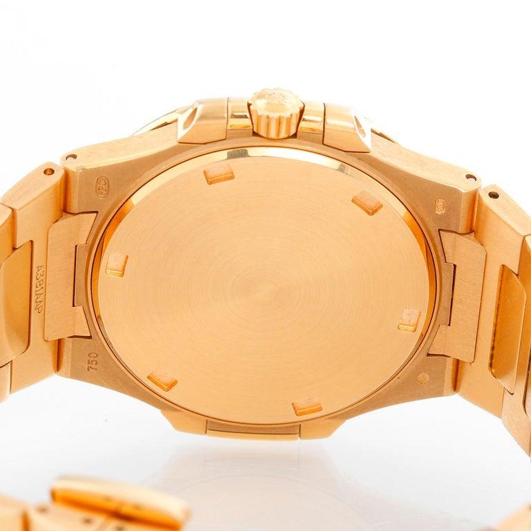 Women's Patek Philippe & Co. 18 Karat Rose Gold Nautilus Diamond Watch 7010R For Sale