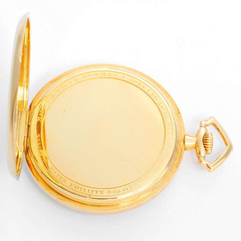 Patek Philippe & Co. 18 Karat Yellow Gold Open Face Pocket Watch In Excellent Condition In Dallas, TX