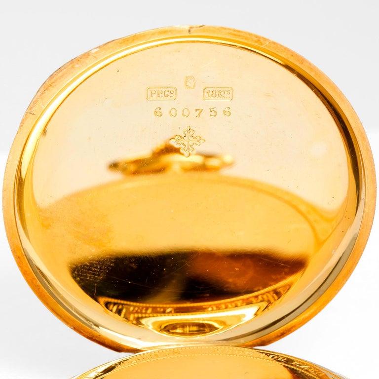 Men's Patek Philippe & Co. 18 Karat Yellow Gold Open Face Pocket Watch