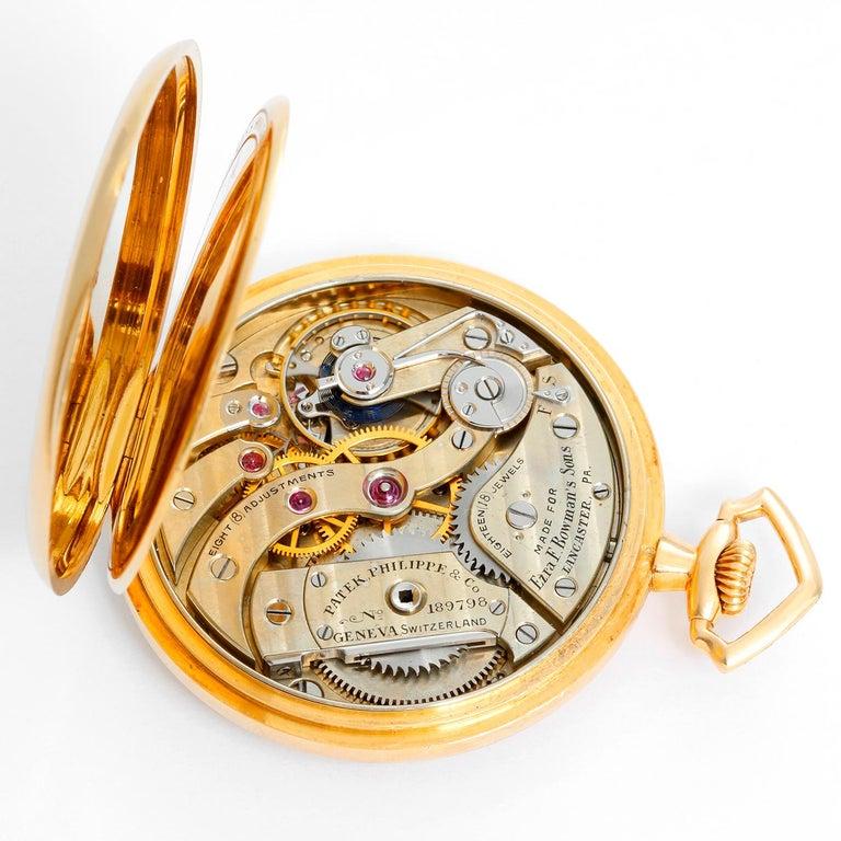 Patek Philippe & Co. 18 Karat Yellow Gold Open Face Pocket Watch 1