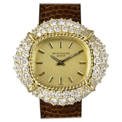 Patek Philippe Cocktail Ladies Gold Diamond Set 4277/1 Manual Wind Wristwatch