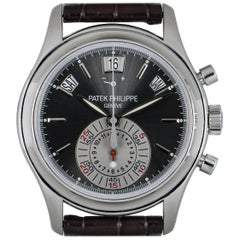 Patek Philippe Complications Annual Calendar Chronograph Platinum Grey Dial