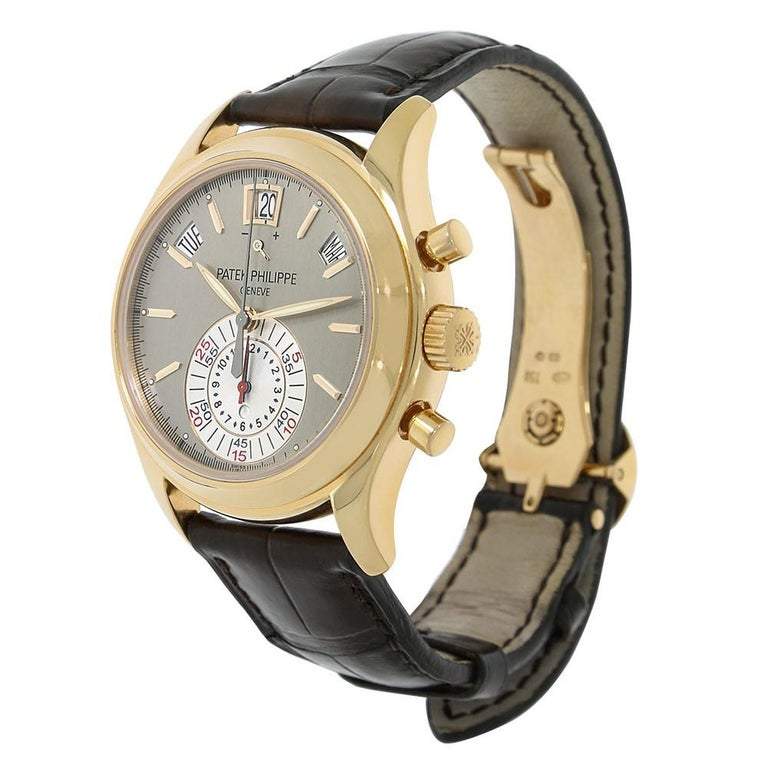 Contemporary Patek Philippe Complications Annual Calendar Chronograph Watch 5960R-001 For Sale