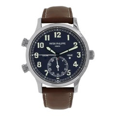 Patek Philippe Complications Calatrava Pilot White Gold Watch 5524G-001