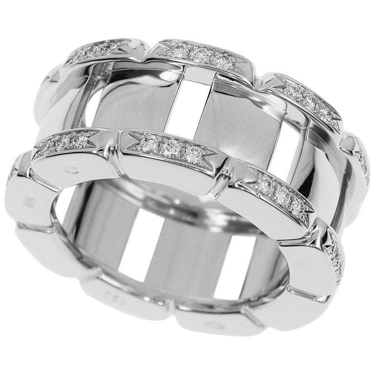 Patek Philippe Diamond 18 Karat White Gold Twenty 4 Ring For Sale