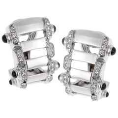 Patek Philippe Diamond Sapphire 18 Karat White Gold Earrings