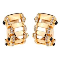 Patek Philippe Diamond Sapphire Rose Gold Diamond Earrings