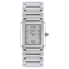 Patek Philippe Diamond Set Stainless Steel Twenty4 4910/10A-011 Watch