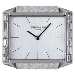 Patek Philippe Dress Watch Vintage Mid-Size 18k White Gold Silver Dial 3506/2