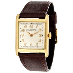 Patek Philippe Early Yellow Gold Art Deco Square Tank Watch, circa 1912