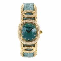 Patek Philippe Ellipse 18K Rose Gold Diamonds Bezel Quartz Ladies Watch 4832 Box