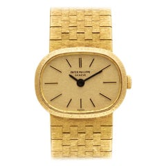 Patek Philippe Ellipse 3373, Gold Dial, Certified and Warranty