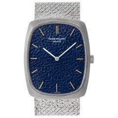 Patek Philippe Ellipse 3567/1 18 Karat White Gold Blue Dial Manual Watch
