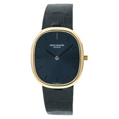 Patek Philippe Ellipse 3738/100, Blue Dial, Certified and Warranty