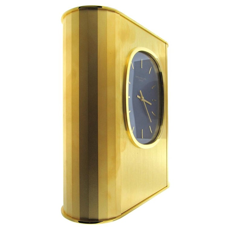 Patek Philippe 'Ellipse d'Or' Solar Quartz Clock, 1970's For Sale 1