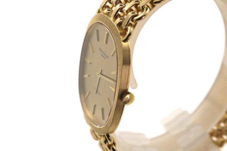 Retro Patek Philippe Ellipse Ref. 3577 Yellow Gold Wristwatch For Sale