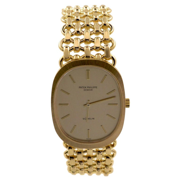 Patek Philippe Ellipse Ref. 3577 Yellow Gold Wristwatch For Sale