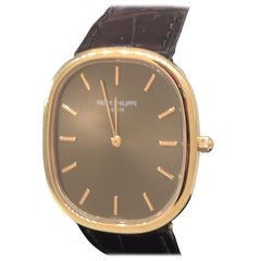 Patek Philippe Ellipse Rose Gold Automatic Brown Dial Men's Watch 3738/100R
