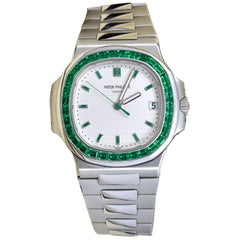 Patek Philippe Emerald 5711P Nautilus 40th Anniversary Watch