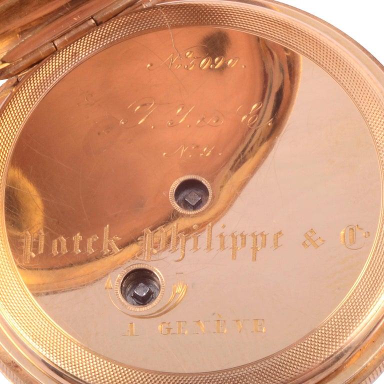 Patek Philippe Enameled 18K Pocket Watch For Sale 2