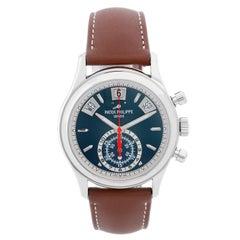 Patek Philippe Flyback Chronograph Men's White Gold Watch 5960 G