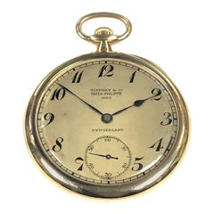 Patek Philippe for Tiffany & Co. 1920s Yellow Gold Pocket Watch