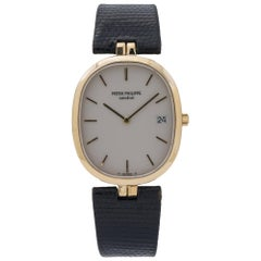 Patek Philippe Geneve 3930J 18 Karat Yelllow Gold White Dial Quartz Unisex Watch