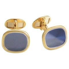 Patek Philippe Golden Ellipse 18 Karat Yellow Gold Cufflinks