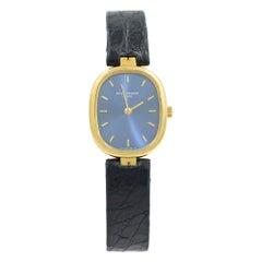 Patek Philippe Golden Ellipse 18 Karat Gold Blue Dial Quartz Lady Watch 3930J