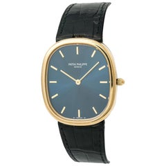 Patek Philippe Golden Ellipse 3738/100J-001, Blue Dial, Certified