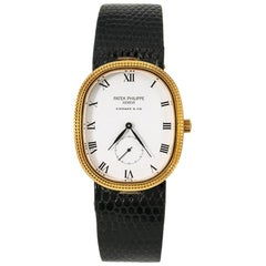 Patek Philippe Golden Ellipse 3987, White Dial, Certified