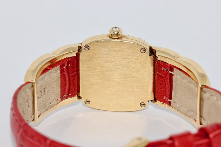 Patek Philippe Golden Ellipse Ladies Wristwatch, with MOP and Diamonds 18K Gold For Sale 1