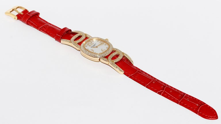 Patek Philippe Golden Ellipse Ladies Wristwatch, with MOP and Diamonds 18K Gold For Sale 2