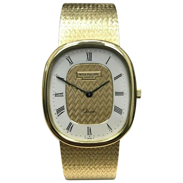 Patek Philippe Golden Ellipse Ref 3838 18 Karat Solid Gold with Box For Sale