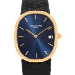 Patek Philippe Golden Ellipse Yellow Gold Blue Dial Watch 3788