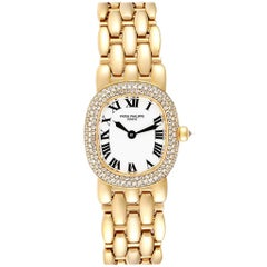 Patek Philippe Golden Ellipse Yellow Gold Diamond Ladies Watch 4831