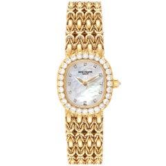 Patek Philippe Golden Ellipse Yellow Gold Diamond Ladies Watch 4931
