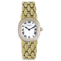 Patek Philippe Golden Ellipse Yellow Gold Diamond Wristwatch