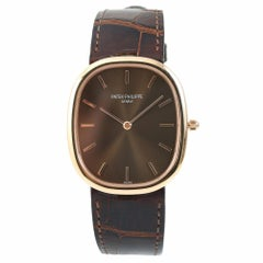 Patek Philippe Golden Ellipse 3738/100R-001, Brown Dial Certified Authentic