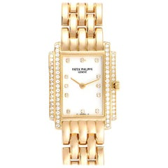 Patek Philippe Gondolo 18 Karat Yellow Gold Diamond Ladies Watch 4825