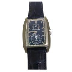 Patek Philippe Gondolo 8 Day Power Reserve Gold Blue Dial Men's Watch 5200g