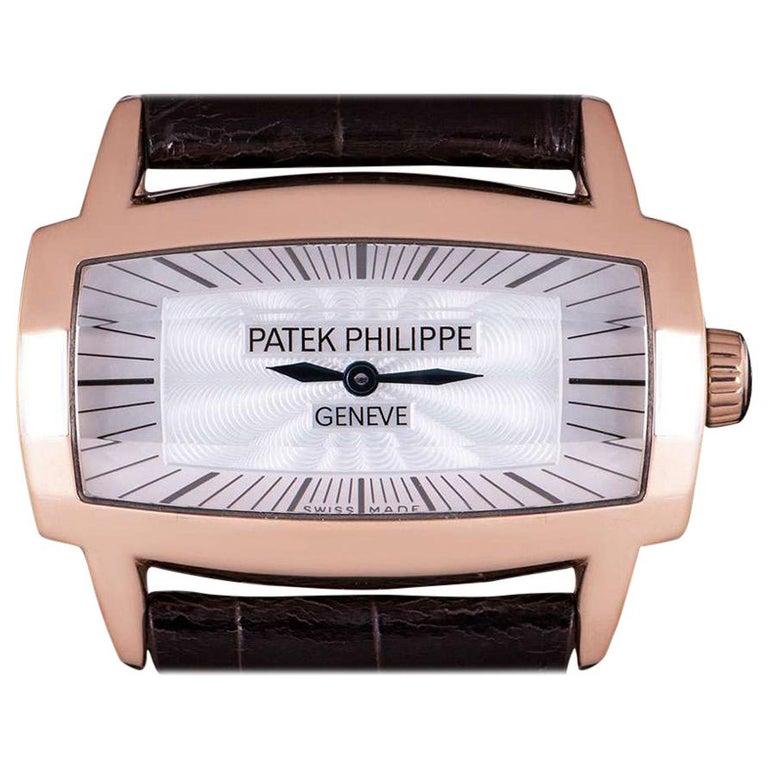 Patek Philippe Gondolo Gemma 18 Karat Rose Gold White Mother of Pearl Dial 4980R For Sale