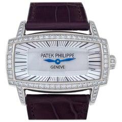 Patek Philippe Gondolo Gemma 4981G-001 18 Karat White Gold Mother of Pearl Dial