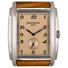 Patek Philippe Gondolo Gents 18 Karat White Gold Rose Dial 5124G-001