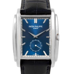 Patek Philippe Gondolo Small Seconds White Gold Blue Dial Watch 5124G