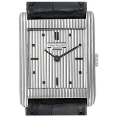 Patek Philippe Gondolo White Gold Silver Dial Vintage Men's Watch 3467